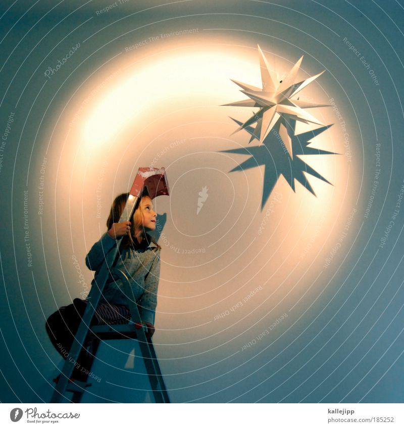 oh du fröhliche Mensch Kind Weihnachten & Advent Mädchen Leben Spielen Glück Feste & Feiern Kindheit leuchten Fröhlichkeit Stern Hoffnung Weltall Neugier
