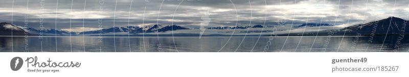 Spitzbergen Fjord Meer Berge u. Gebirge Freiheit Gletscher Fjord Reflexion & Spiegelung Schneebedeckte Gipfel