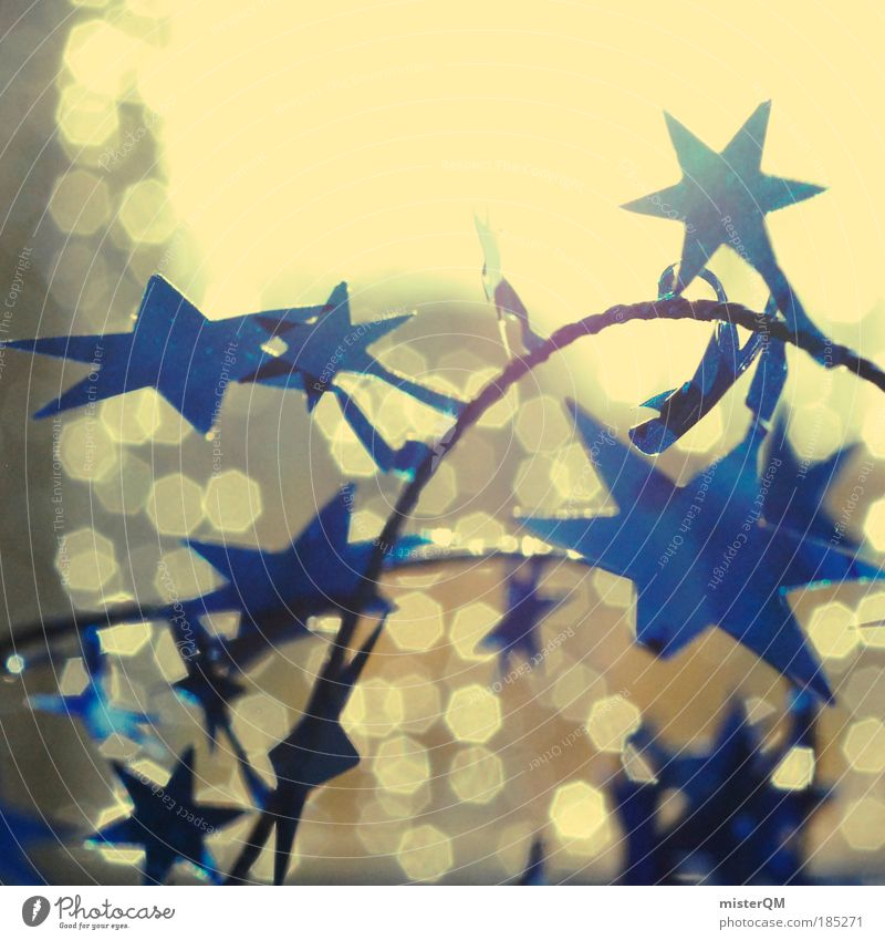 Stars. Weihnachten & Advent blau dunkel hell Stimmung Feste & Feiern Kunst Stern glänzend Schatten Muster verrückt modern ästhetisch abstrakt