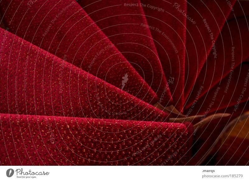 Fächer Lifestyle elegant Stil Häusliches Leben Wohnung Treppe Wendeltreppe drehen rot Reichtum Karriere Museum Theater Kultur Grafik u. Illustration Farbfoto