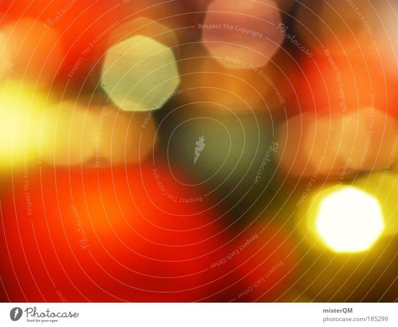 Wenn's überall funkelt. Weihnachten & Advent Winter Wärme Feste & Feiern hell Kunst orange glänzend Dekoration & Verzierung Gold ästhetisch Hoffnung Kultur