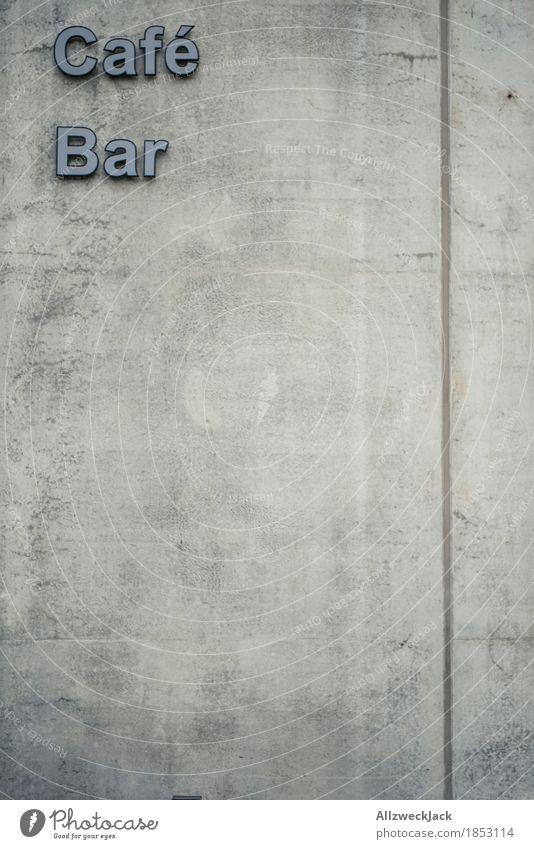 Beton Café / Bar Stadt Wand Mauer grau Schriftzeichen Schilder & Markierungen Beschriftung