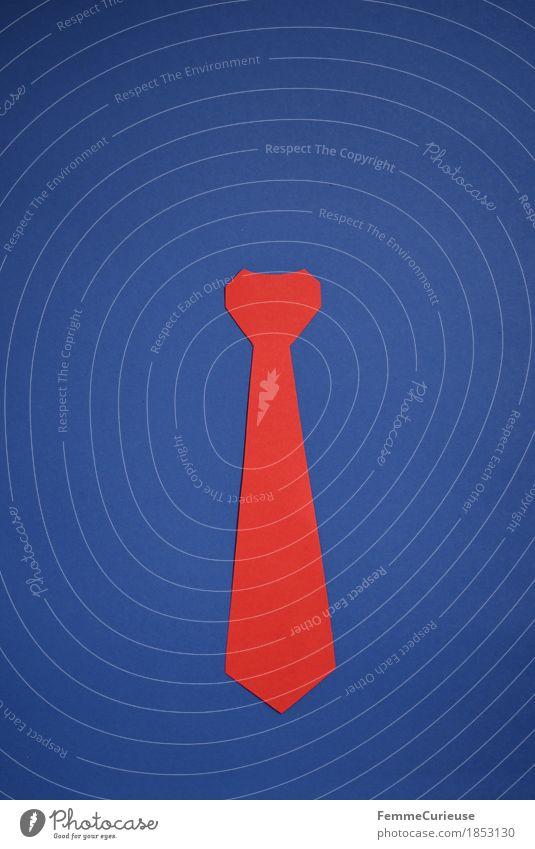 Krawatte_1853130 Mode Business Macht USA Trump rot gebastelt Kreativität Statussymbol Papier markant Warnfarbe verkleiden Accessoire Krawattenknoten knallig