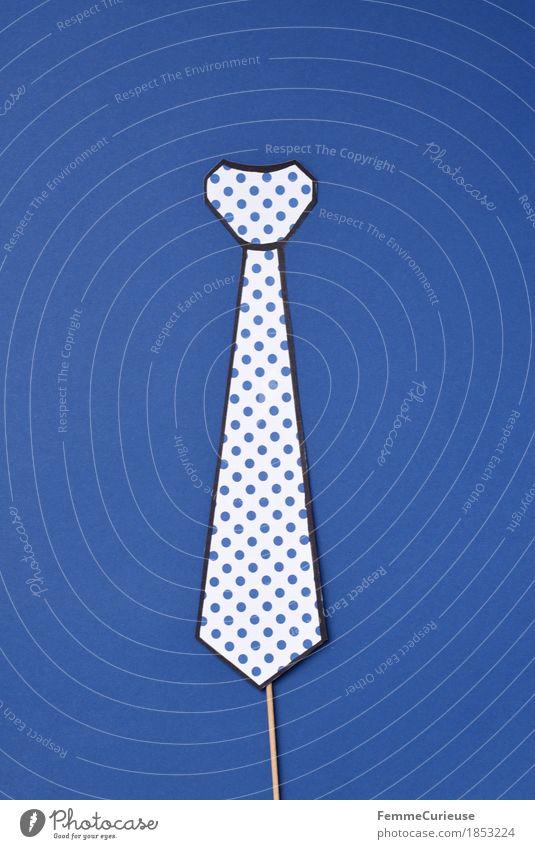 Krawatte_1853224 Mode Bekleidung Accessoire Business bewerben Vorstellungsgespräch schick elegant maskulin gepunktet blau aufgespiesst gebastelt Kreativität
