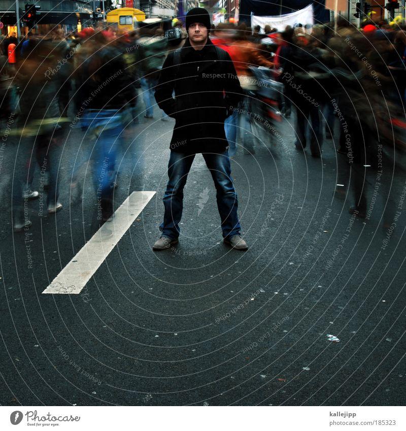 zielgruppe Mensch Mann Erwachsene Straße Bewegung Denken Menschengruppe Stimmung maskulin Bewegungsunschärfe Zukunft Studium einzigartig Bildung Ziel Völker