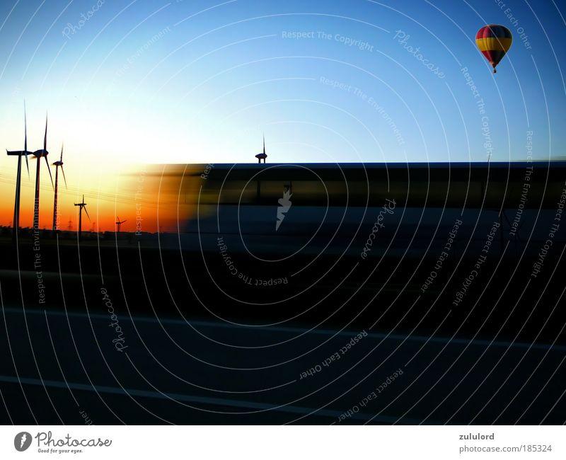 energie Güterverkehr & Logistik Energiewirtschaft Fortschritt Zukunft Erneuerbare Energie Sonnenenergie Windkraftanlage Energiekrise Bewegung fahren fliegen
