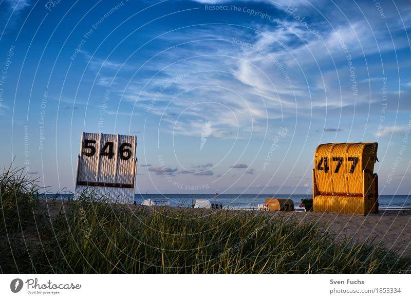 Strandkörbe 546 | 477 Wohlgefühl Erholung Ferien & Urlaub & Reisen Tourismus Sommer Meer Wolken Frühling Nordsee Pause Ostfriesland Landkreis Friesland