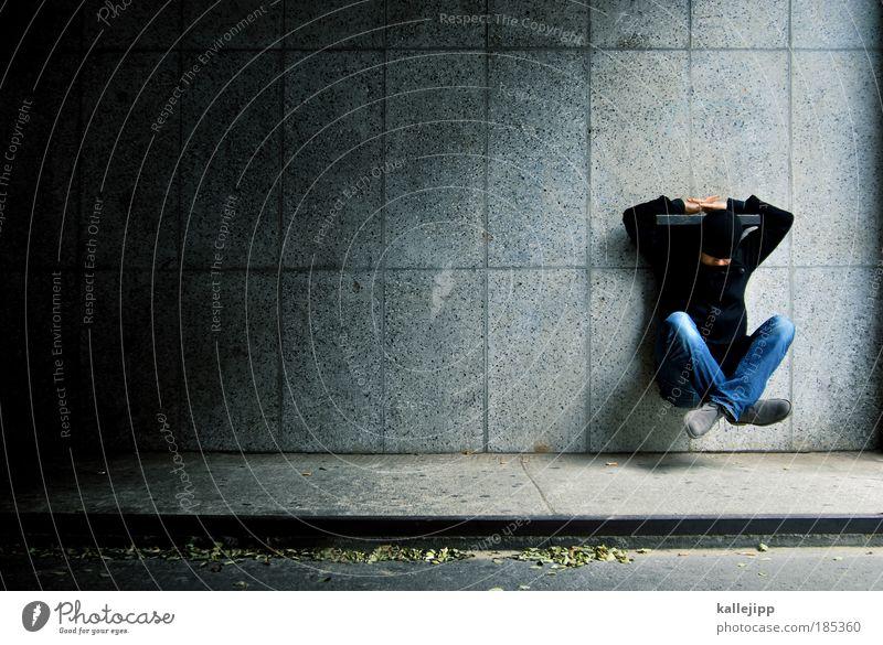 das fleissige schneiderlein Mensch Mann ruhig Erwachsene Erholung Leben Zufriedenheit Schuhe fliegen sitzen maskulin Lifestyle Jeanshose Konzentration Jacke Mütze