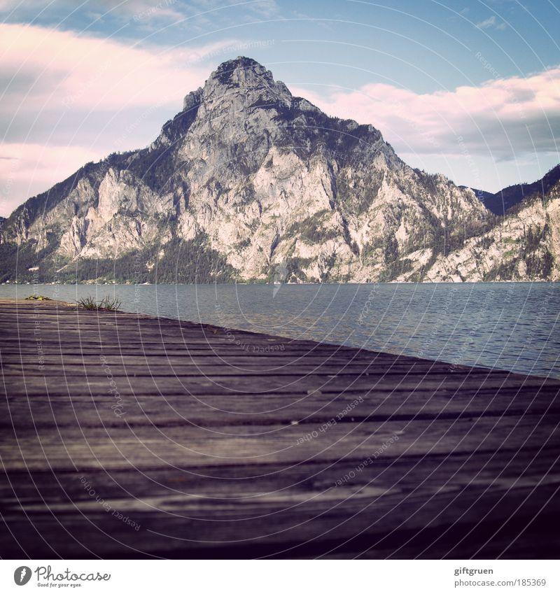 """1.691m, 47° 52' 25"""" N, 13° 50' 26"""" O Natur Sommer Ferien & Urlaub & Reisen Erholung Berge u. Gebirge Freiheit See Landschaft Umwelt hoch Ausflug ästhetisch"""