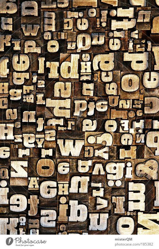 Wortschatz. Makroaufnahme abstrakt Experiment Medien Stil Printmedien Kunst Design Muster verrückt Beruf Buchstaben Telekommunikation Silhouette viele Dinge
