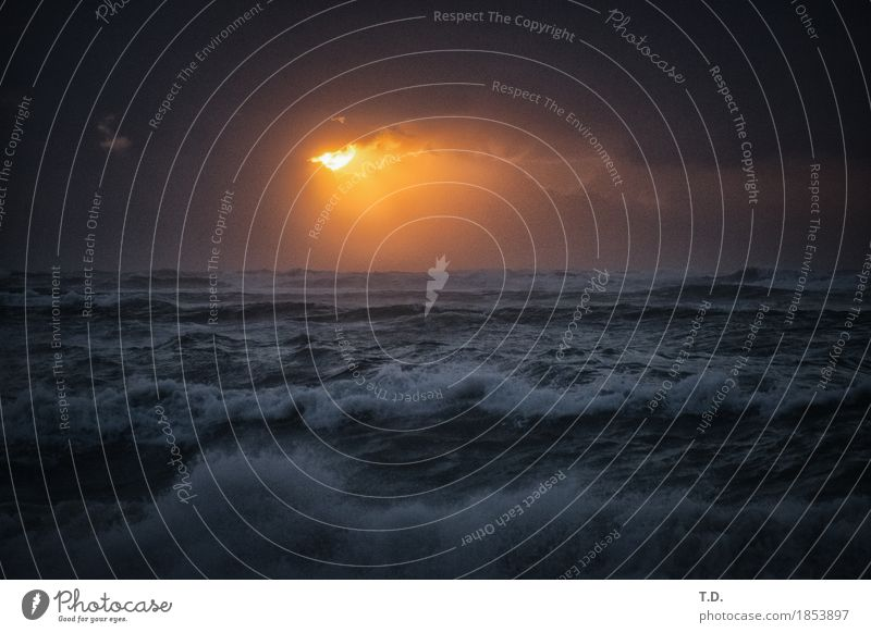Breach Himmel Natur Wasser Sonne Meer Wolken Ferne grau Erde Stimmung Horizont Wetter Wellen gold Kraft Wind