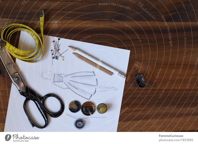 Modedesign_1853899 Kreativität planen Entwurf kreieren produzieren schöpfen Design Designer Damenmode Bekleidung Kleid Rock Schneidern Nähen machen Maßband