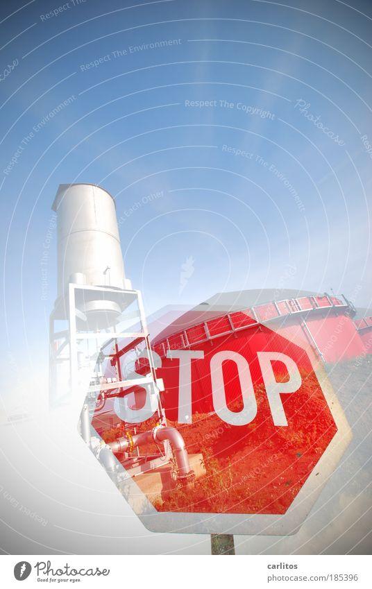 STOP, ich bin dagegen ! Experiment Lichterscheinung Weitwinkel Fortschritt Zukunft Energiewirtschaft Erneuerbare Energie Sonnenenergie Kernkraftwerk