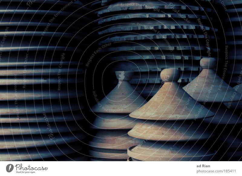 Jedem Topf sein Deckel dunkel Stil Kunst elegant Ernährung rund Küche Geschirr Tasse Handwerk Skulptur Handwerker Schalen & Schüsseln Suppe Ton