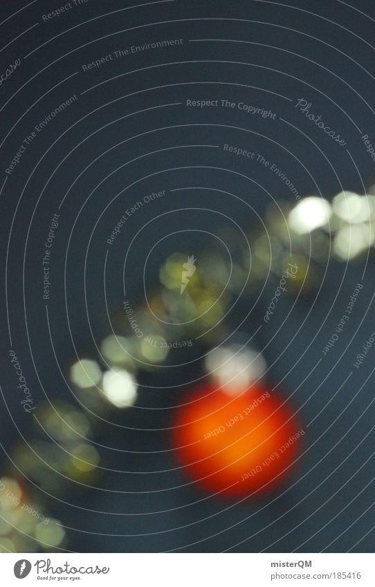 Besinnliche Unschärfe. Weihnachten & Advent Winter Stil Kunst orange Zufriedenheit Feste & Feiern glänzend Design ästhetisch Kultur Kreativität Kugel hängen silber