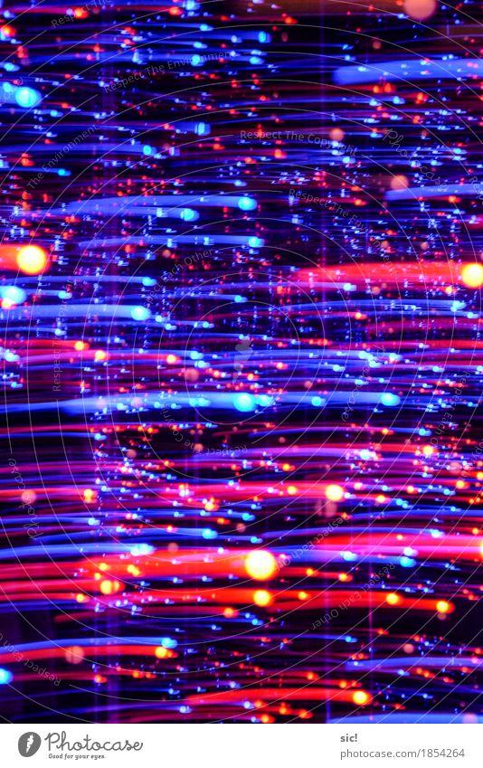 Schnuppen Party Dekoration & Verzierung Linie Streifen Punkt Schweif glänzend leuchten ästhetisch blau mehrfarbig rot Begeisterung Euphorie Neugier Überraschung