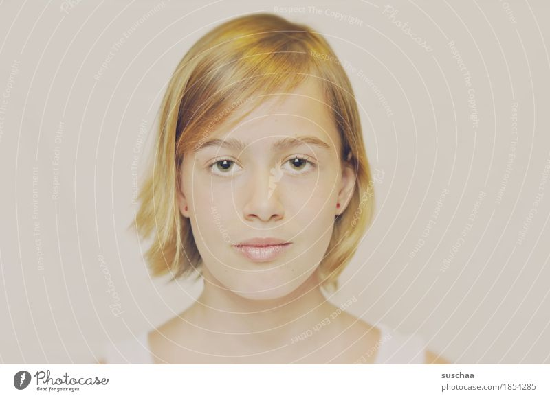 passbild Frau Jugendliche Junge Frau Mädchen Gesicht Auge Kopf Haare & Frisuren blond Mund Nase Passbild
