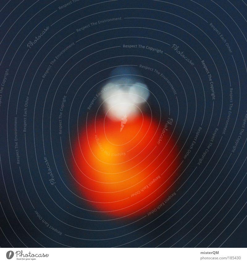 Funkelnde Unschärfe. Kunst Kultur ästhetisch Weihnachten & Advent Brille Optiker Adventskalender Kugel orange Christbaumkugel glänzend besinnlich Design