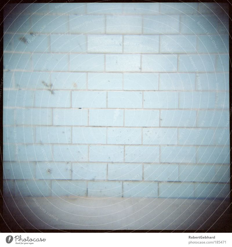 Wand01 alt ruhig Einsamkeit kalt Wand Mauer dreckig Beton Boden einfach Schwimmbad Bad Mitte Backstein Fliesen u. Kacheln Raum