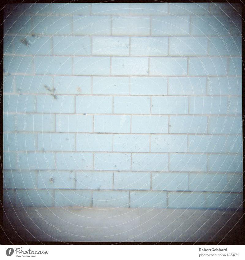 Wand01 Bad Industrieanlage Schlachthof Mauer Fliesen u. Kacheln Beton alt dreckig einfach kalt Schmerz schuldig Einsamkeit Nostalgie ruhig Lomografie