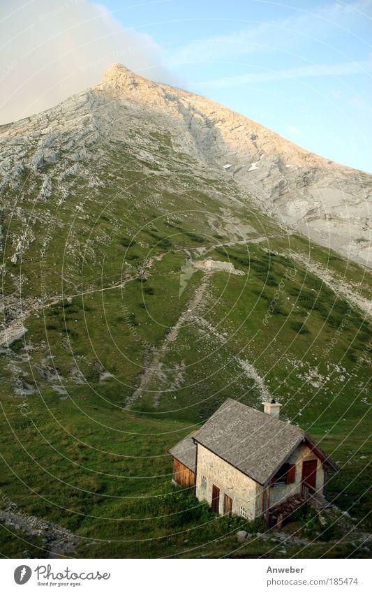 Der Berg ruft - Watzmann vom Watzmannhaus Natur blau Sommer Landschaft Ferne Berge u. Gebirge Umwelt Gefühle Bewegung Deutschland Stimmung Felsen wandern Europa