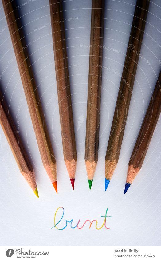 farbenfroh.... elegant Stil Design harmonisch Basteln Klassenraum Tafel Schüler Büroarbeit Kunst Schreibwaren Papier Zettel Schreibstift Zeichen Schriftzeichen