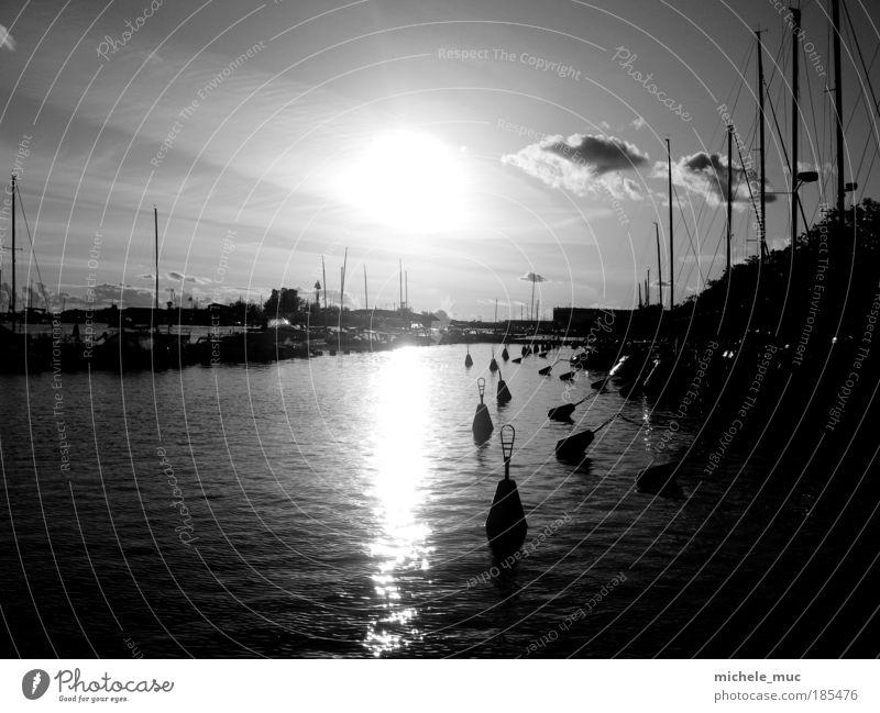 Helsinki Sailing Harbour Himmel Wasser Stadt Ferien & Urlaub & Reisen Wolken kalt Küste Wellen Seil Europa Schwarzweißfoto Hafen Nordsee Seeufer Schifffahrt