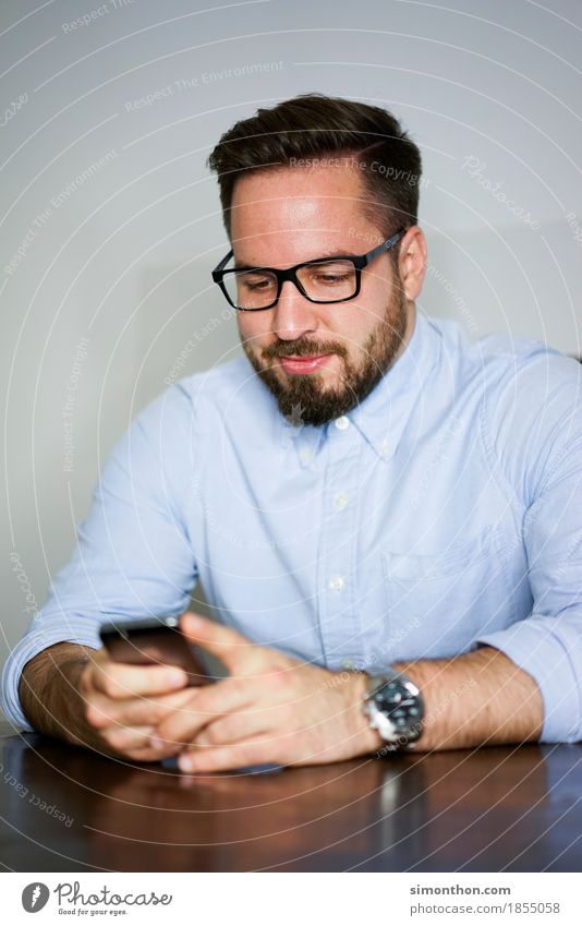 Handysucht Mensch Freude sprechen Lifestyle Stil Glück Business maskulin Häusliches Leben Zufriedenheit Kommunizieren Technik & Technologie Erfolg
