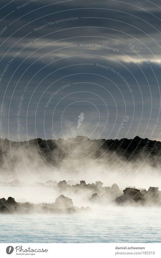 Badewanne, isländisch Erholung ruhig Dampfbad Ferien & Urlaub & Reisen Tourismus Ferne Freiheit Expedition Meer Wellen Wasser Gewitterwolken Vulkan Küste