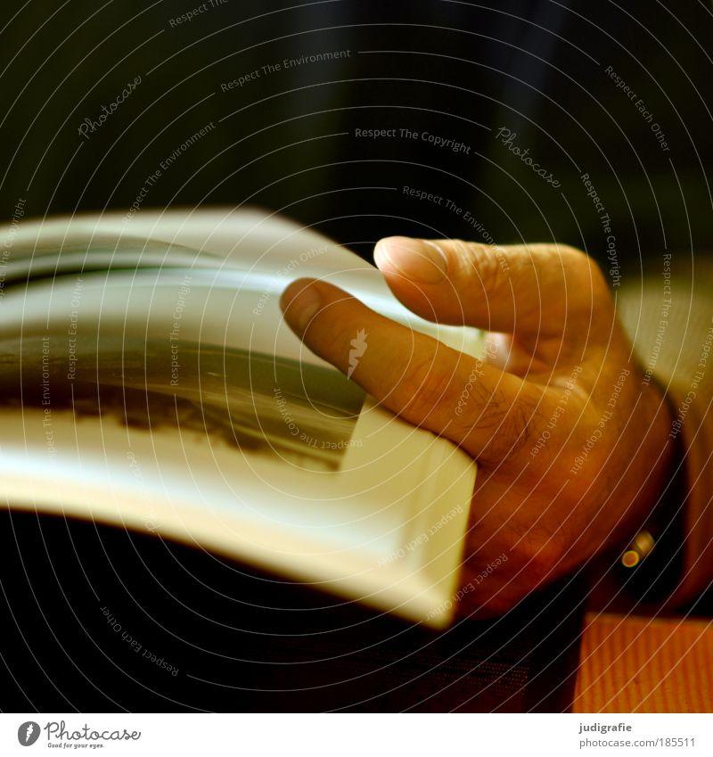Stöbern Mann Hand Stimmung Fotografie Kunst Buch Erwachsene Finger Papier lesen Kultur Bildung Buchseite Printmedien Medien blättern