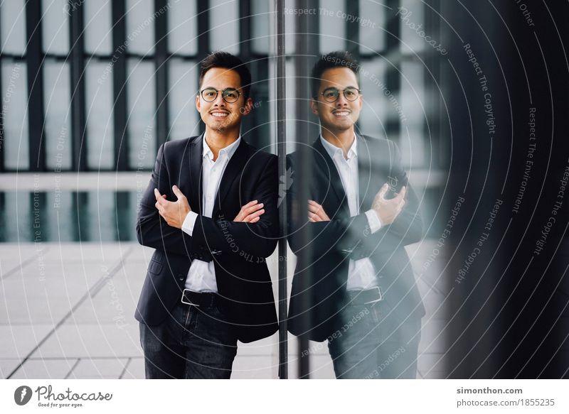 Business Mensch Mann Freude Erwachsene sprechen Lifestyle Stil Glück Arbeit & Erwerbstätigkeit maskulin Büro elegant Erfolg Studium Geld