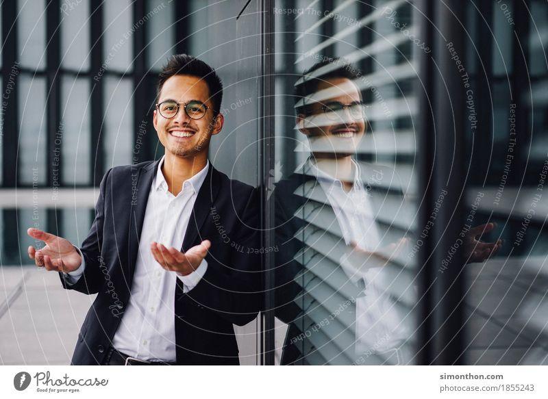 Business Mensch sprechen Arbeit & Erwerbstätigkeit maskulin Büro Erfolg Perspektive Idee einzigartig Studium planen Beruf Geldinstitut Sitzung Karriere