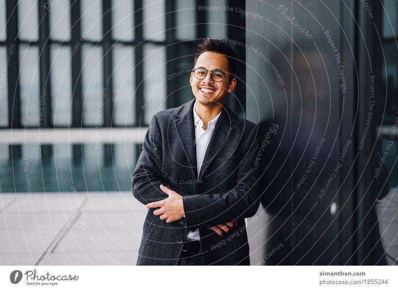 Business Mensch Freude Leben sprechen Lifestyle Stil Glück maskulin elegant Kommunizieren Erfolg Perspektive Zukunft Lebensfreude planen