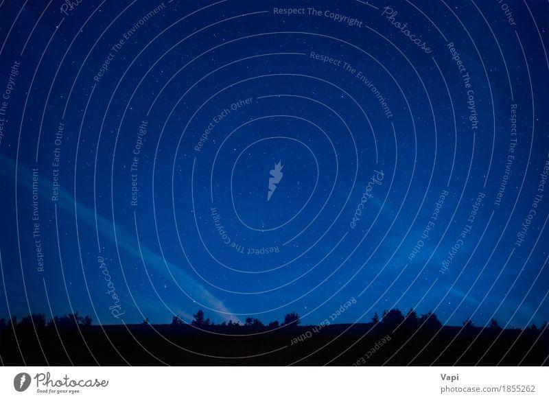 Blauer dunkler nächtlicher Himmel mit vielen Sternen Ferien & Urlaub & Reisen Berge u. Gebirge Tapete Umwelt Natur Landschaft Wolkenloser Himmel Nachthimmel