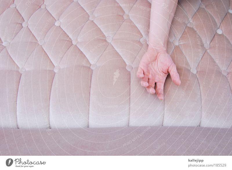 beim therapeuten Mensch Mann Hand ruhig Erholung Stil Zufriedenheit Haut Erwachsene Arme Wohnung rosa maskulin Finger schlafen Lifestyle