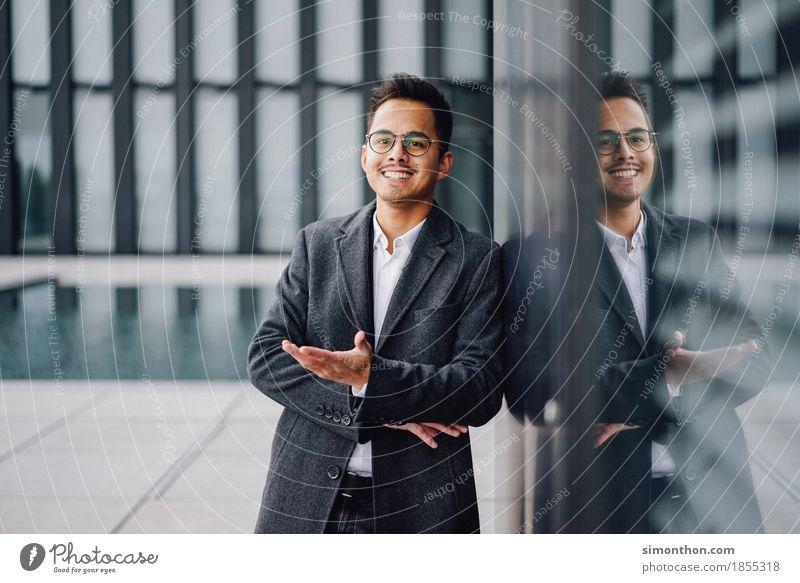 Business Mensch Freude sprechen Lifestyle Stil Arbeit & Erwerbstätigkeit maskulin Büro Kraft Erfolg Zukunft Studium planen Ziel Beruf
