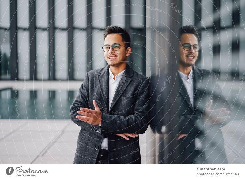 Business Mensch sprechen Lifestyle Stil Arbeit & Erwerbstätigkeit maskulin Büro elegant Erfolg Perspektive Beginn Studium Macht Netzwerk Team