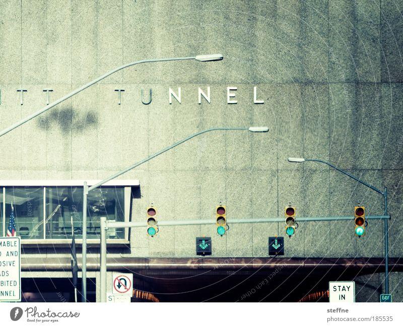 STAY IN Verkehr fahren USA Lomografie Autobahn Tunnel Autofahren Ampel Verkehrsschild Verkehrszeichen Cross Processing