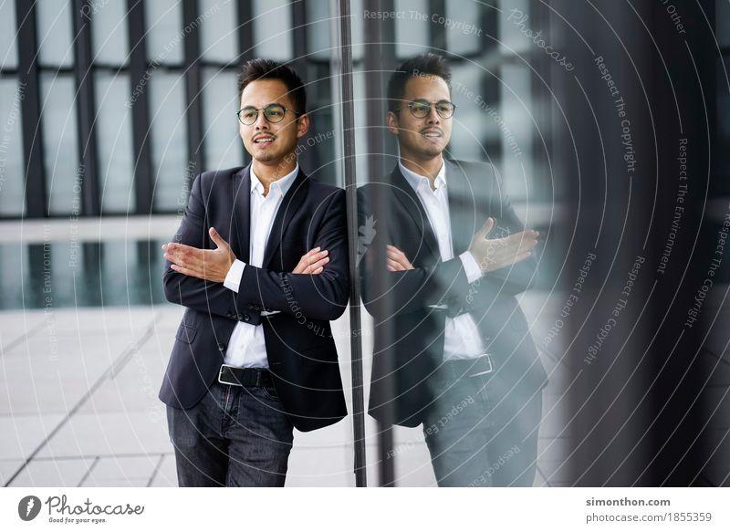 Diskussion maskulin Mann Erwachsene 1 Mensch Arbeitsbekleidung Anzug Arbeit & Erwerbstätigkeit Beratung Denken sprechen kaufen Kommunizieren seriös