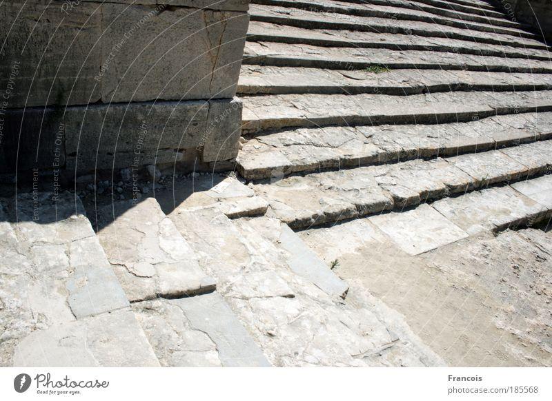 Phaistostreppe1 Museum Bauwerk Gebäude Architektur Mauer Wand Treppe eckig Wege & Pfade Griechenland Palast Antike Minoer Kreta Ruine Fugen Stein Farbfoto