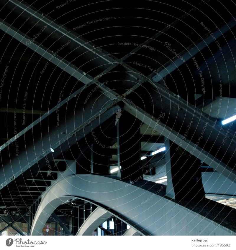 XXL Brücke Macht Güterverkehr & Logistik fest Stahl Tunnel Konstruktion Tradition Stahlträger Stabilität Schienenverkehr