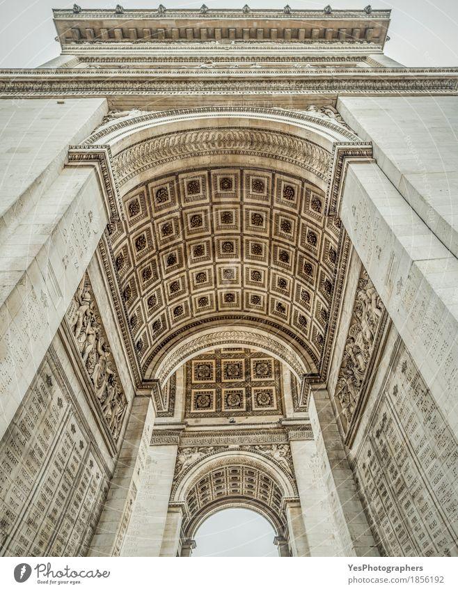 Arc de Triomphe Innendetails Design Ferien & Urlaub & Reisen Tourismus Kunstwerk Kultur Bauwerk Gebäude Architektur Sehenswürdigkeit Wahrzeichen Denkmal