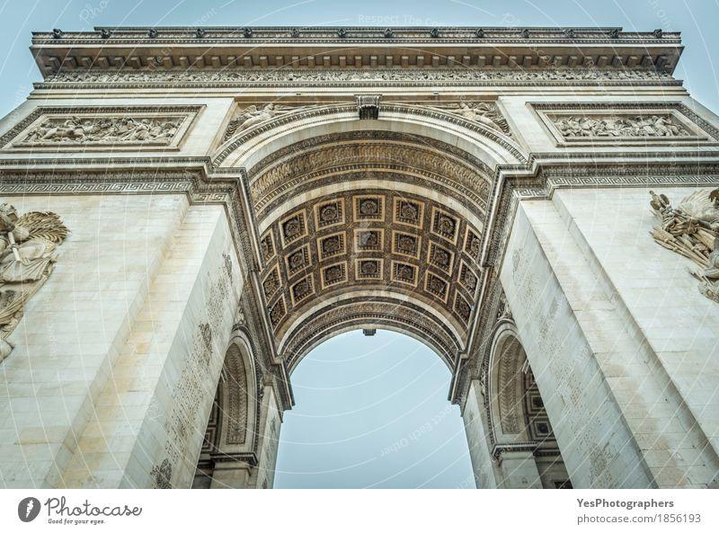 Arc de Triomphe von Paris im Detail Design Ferien & Urlaub & Reisen Tourismus Kultur Stadt Hauptstadt Gebäude Architektur Sehenswürdigkeit Wahrzeichen Denkmal