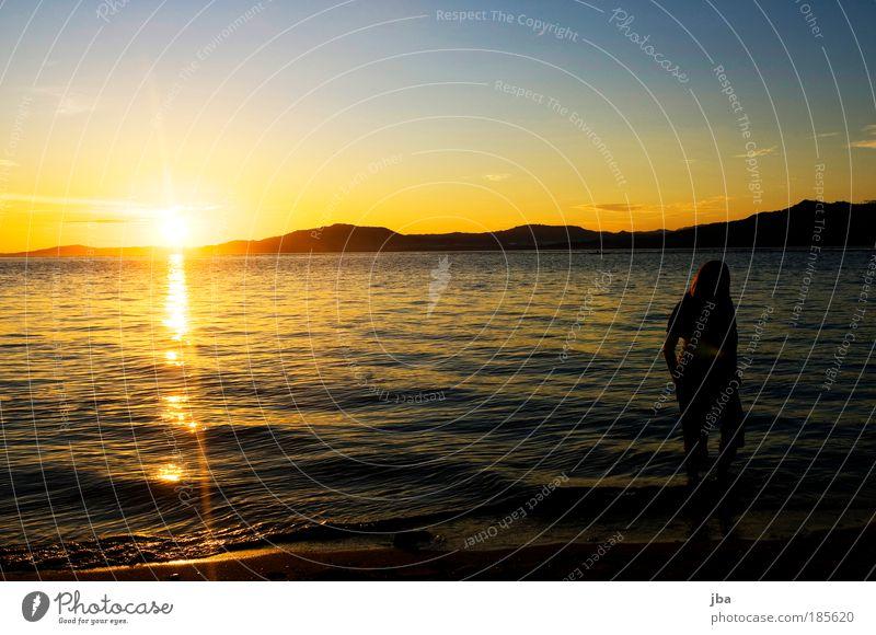 kitschig oder romantisch? Mensch Himmel Wasser Ferien & Urlaub & Reisen Sonne Sommer Meer Strand Ferne Erholung Landschaft Freiheit Tourismus Insel Urelemente