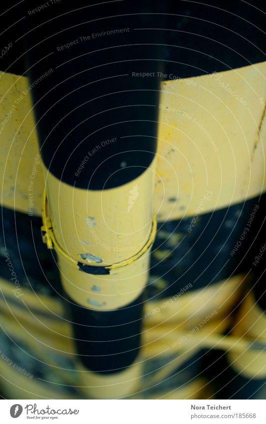 Machst du einen auf Tigerente? schwarz gelb Glück träumen Metall Stimmung Linie verrückt außergewöhnlich neu Coolness Industrie Wandel & Veränderung Streifen Technik & Technologie retro
