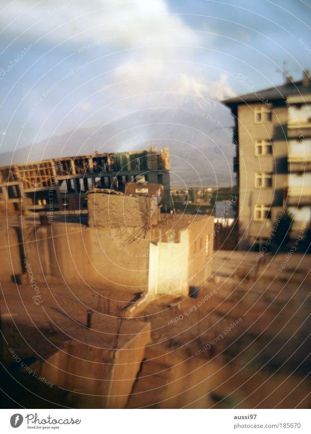 Nach dem Goldrausch Haus Hochhaus Dach Ruine liquide umsiedeln