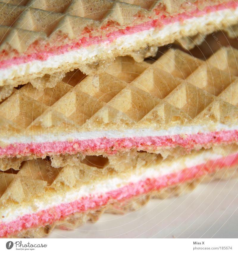 einen an der Waffel! Lebensmittel Ernährung süß retro weich dünn lecker Süßwaren Jahrmarkt Nostalgie Zucker Backwaren Teigwaren Dessert Geschmackssinn Snack