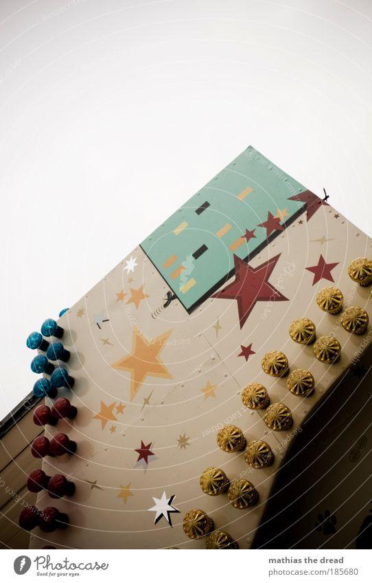 STERNE SEHEN alt Himmel Lampe Straßenverkehr Stern (Symbol) Ecke Dekoration & Verzierung Jahrmarkt parken bewegungslos Buden u. Stände Weihnachtsmarkt Wohnmobil