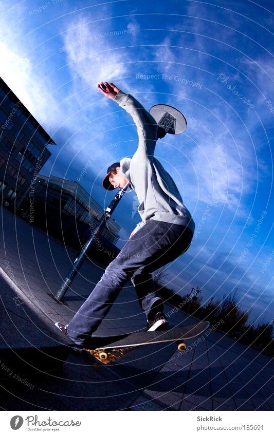 Dancing on the board Freizeit & Hobby Skateboard Skateboarding Skateboardkleidung Sport Funsport maskulin Jugendliche 1 Mensch fahren Grinden Trick Farbfoto