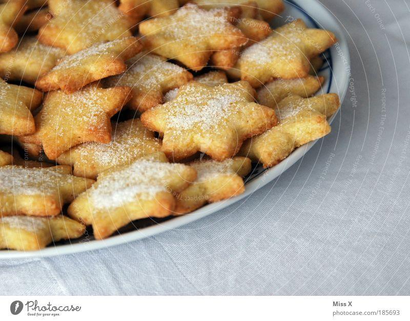 Omas Plätzchen Weihnachten & Advent klein Lebensmittel Ernährung Kochen & Garen & Backen Stern süß Stern (Symbol) lecker Süßwaren Übergewicht Dessert Vorfreude